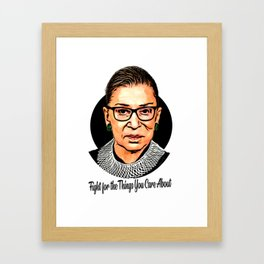 The Unstoppable Ruth Bader Ginsburg Framed Art Print