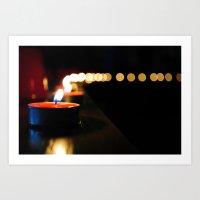 Candles Art Print