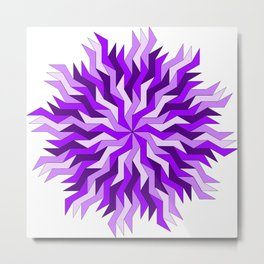 Purple Lightning Wheel Metal Print