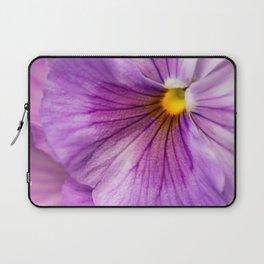 Purple Pansy Flower Close-up #decor #society6 #buyart Laptop Sleeve