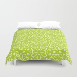 Abstract Decorative Pattern 63 - Green Duvet Cover