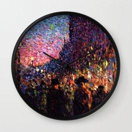 Paris Boulevard Masterpiece by Maximilian Luce Wall Clock