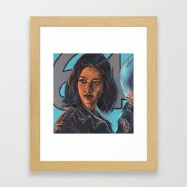 Bonfire, Bon Voyage Framed Art Print