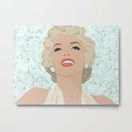 Marilyn on Diamonds Metal Print