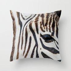 EYE OF THE ZEBRA Throw Pillow