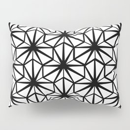 Hexagon Pattern in Black and White Pillow Sham
