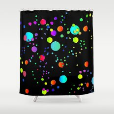 Astract colorful bubbles 141 Shower Curtain