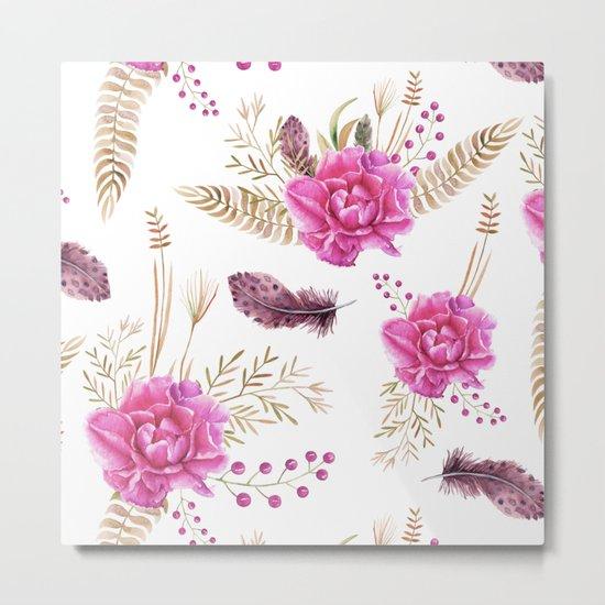 Autumn Forest Floral Metal Print