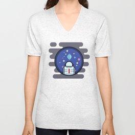 Spacey Unisex V-Neck