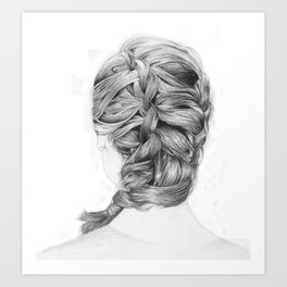 French Braid Art Print
