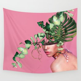Lady Flowers VI Wall Tapestry