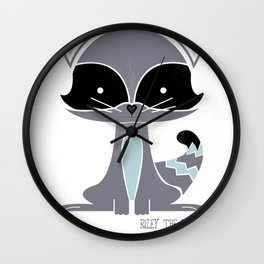 Riley the Racoon Wall Clock