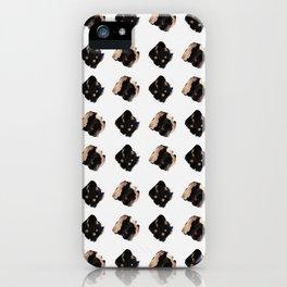 Black and gold diamond pattern iPhone Case