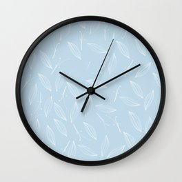 leaves of rosemary - baby light blue Wall Clock