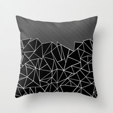 Ab Lines 45 Black Throw Pillow
