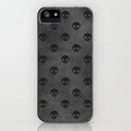 Black Skulls iPhone Case