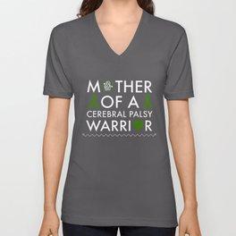 mother of a cerebral palsy warrior cancer t-shirts Unisex V-Neck