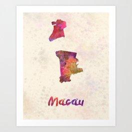 Macau in watercolor Art Print