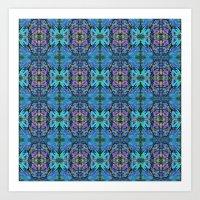 Soft Blue Butterfly Art Print