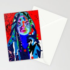 Abstract girl Stationery Cards