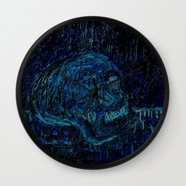 The Skull and the Key Wall Clock