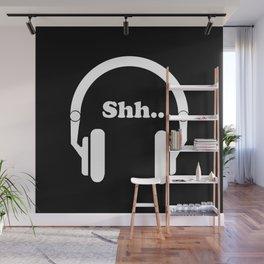 Headphones and music Wall Mural