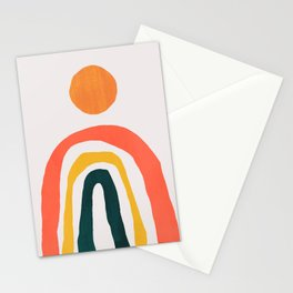 Sunrise over rainbow hill Stationery Cards