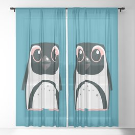 African Penguin - 50% of profits to charity Sheer Curtain