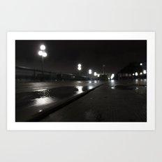 Promenade d'un nuit Art Print