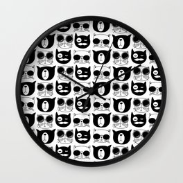 Hipster Cats Wall Clock
