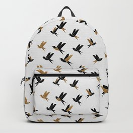 Origami Birds Collage II, Bird Decor Backpack