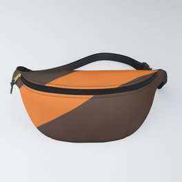 Brown & Orange Retro Stripe Fanny Pack