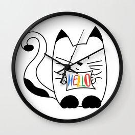HELLO - CAT Wall Clock