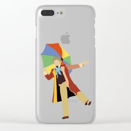 Sixth Doctor: Colin Baker Clear iPhone Case
