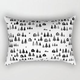 House Trees Pattern Rectangular Pillow