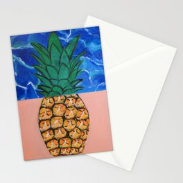 Pineapple Waves Stationery Cards