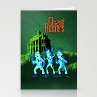 ghostbusters Stationery Cards featuring Hitchhiking Ghostbusters by Sam Carter AKA Cartarsauce