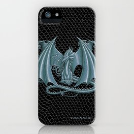 """Dragon Letter M, from """"Dracoserific"""", a font full of Dragons iPhone Case"""
