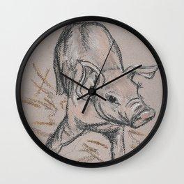 Piggie 1 Wall Clock