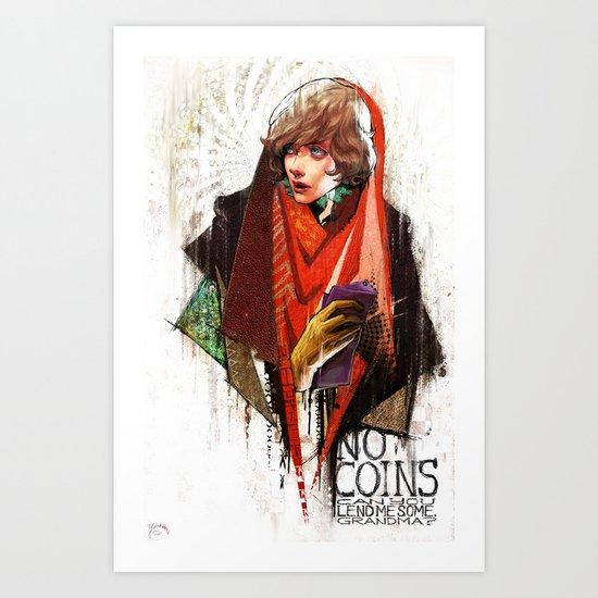 Red Riding Hood Boys: No Coins Art Print