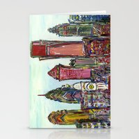 philadelphia Stationery Cards featuring Philadelphia Skyline by Britt Miller Art