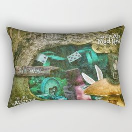 Down the Rabbit Hole Rectangular Pillow