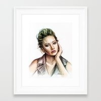 jennifer lawrence Framed Art Prints featuring Jennifer Lawrence by Creadoorm