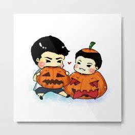 Baby pumpkin Sterek Metal Print