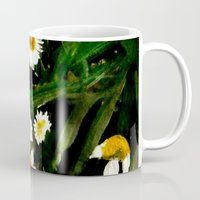 pushing daisies Mugs featuring Daisies by James Peart