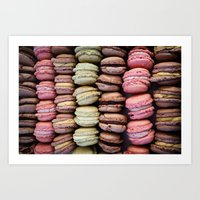 macarons Art Prints featuring Macarons by Tanya Harrison Photography