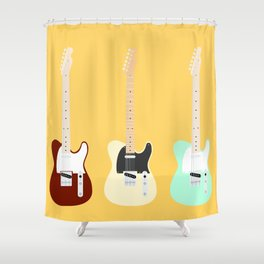 Flat Telecaster 2 Shower Curtain