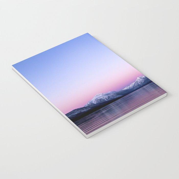 pastel mountain lake sunset Notebook