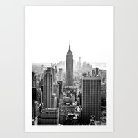 new york city Art Prints featuring New York City by Studio Laura Campanella