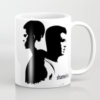 shameless Mugs featuring Shameless Ian Gallagher and Mickey Milkovich by trenchcoatandimpala